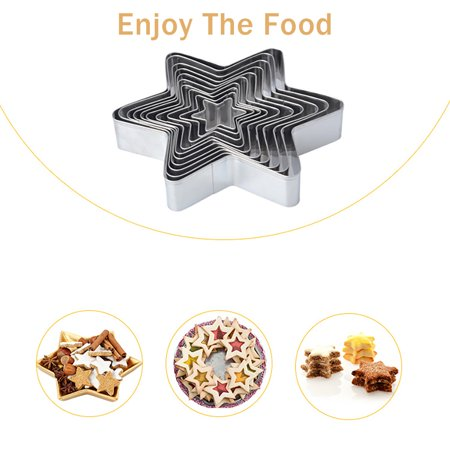 10pcs Cookie Cutters Stainless Steel Cutter Mold Sandwich Cutters Mini Geometric Shapes Cookie Cutter - image 6 of 7