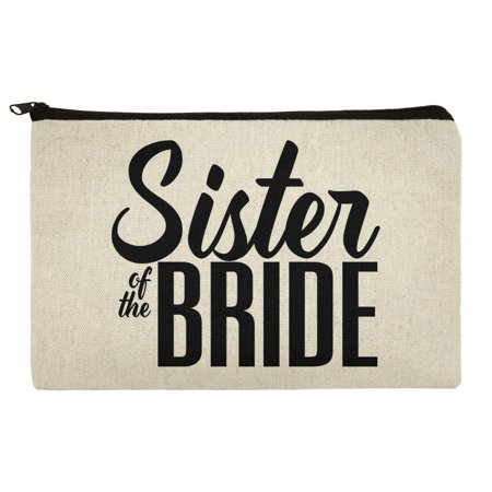 Sister of the Bride Wedding Makeup Cosmetic Bag Organizer Pouch (Dead Bride Makeup)