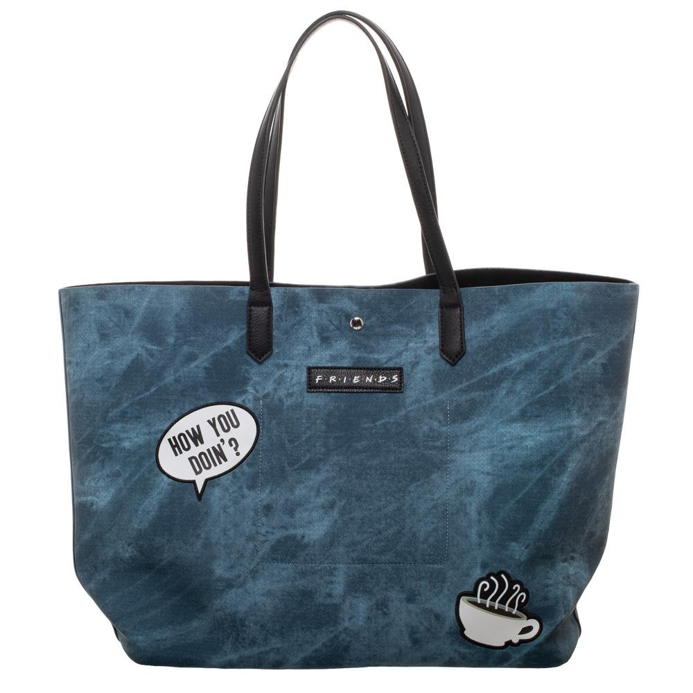 "FRIENDS CENTRAL PERK BLUE 19/"" X 13/"" TOTE BAG"