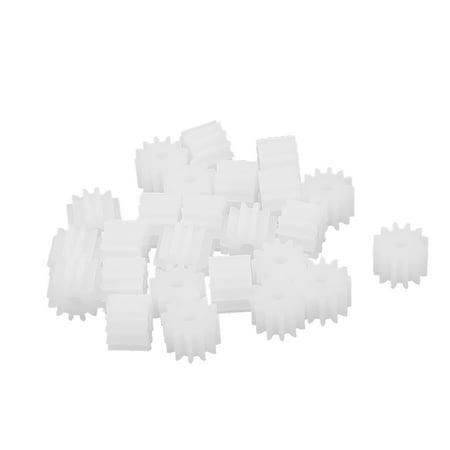 20pcs 6 6mmx2mm 12 Teeth Plastic Thick Motor Spindle Spur Gear f DIY R