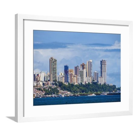 City seen from the Bay of All Saints, Salvador, State of Bahia, Brazil, South America Framed Print Wall Art By Karol Kozlowski - Party City South Bay