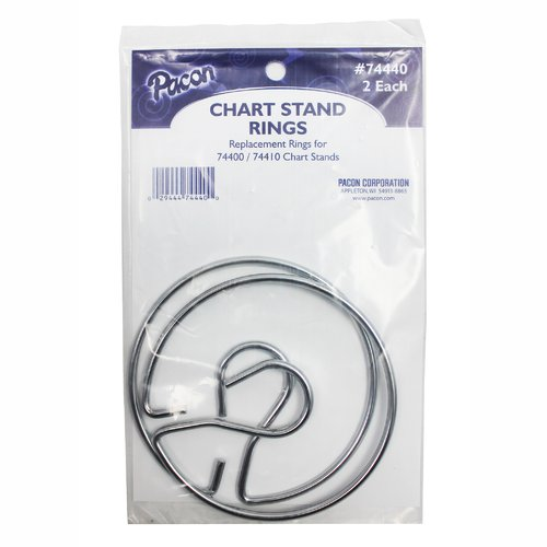 Pacon Corporation Chart Stand Rings, 3'' x 3'' (Set of 2) by PACON CORPORATION
