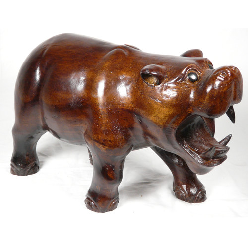 D-Art Collection Water Buffalo Hippo Statue