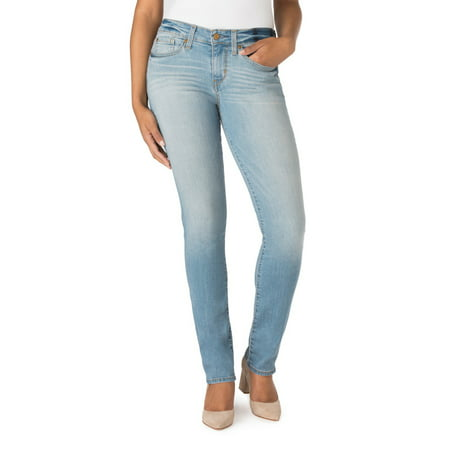 Womens Light Blue Jeans - Signature by Levi Strauss & Co. Women's Modern Straight Jeans