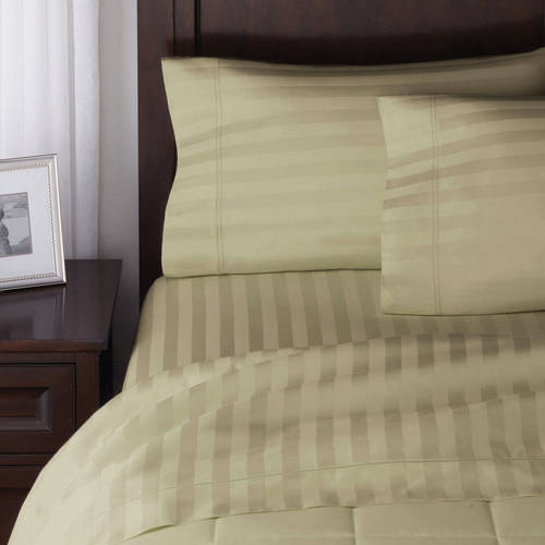 Better Homes and Gardens 300 Thread Count Wrinkle Free Damask Stripe Sheet Set