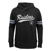 11f3311ea87d Product Image Girls Youth Black Oakland Raiders French Terry Pullover Hoodie