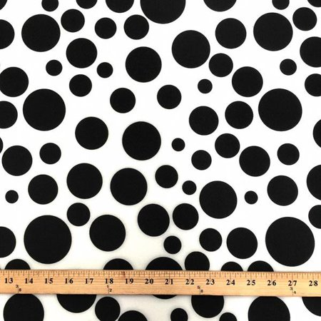 Neoprene Scuba Polka Dot Knit Fabric Polyester Spandex Sold BTY 58