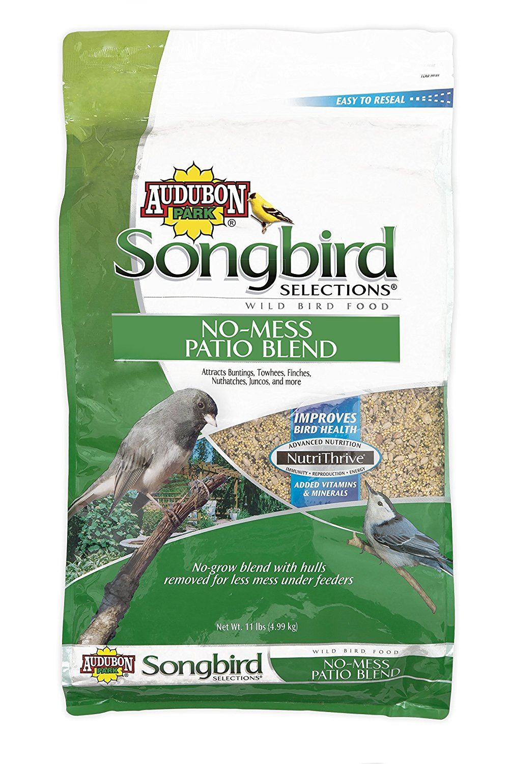 11986 No-Mess Patio Blend Wild Bird Food, 11-Pound 11 lb, Ship from America by