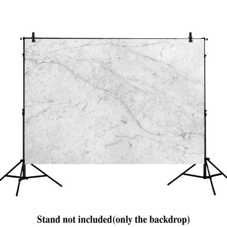 HelloDecor Polyster 7x5ft photography backdrops white gray Classic Marble Texture stone product Floordrop props photo studio booth background](Stone Backdrop)