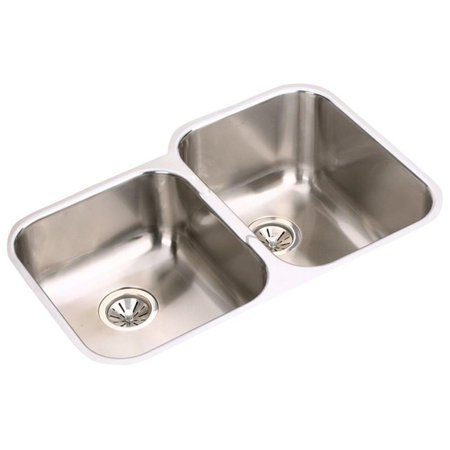 Elkay Specialty Collection (Elkay EGUH312010L Gourmet Elumina Stainless Steel Double Bowl Undermount)