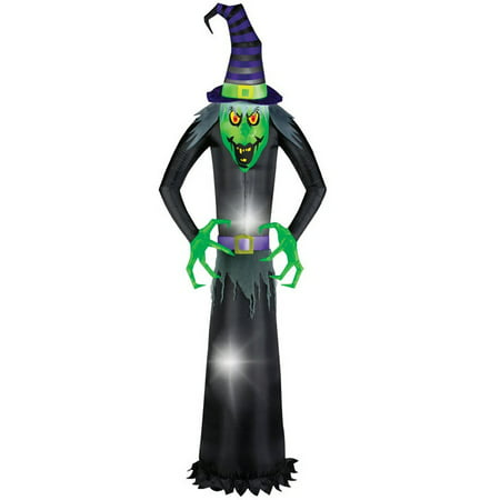 Gemmy 58614 Giant Airblown Wicked Witch Halloween Inflatable, Multicolored](Halloween Store Displays)