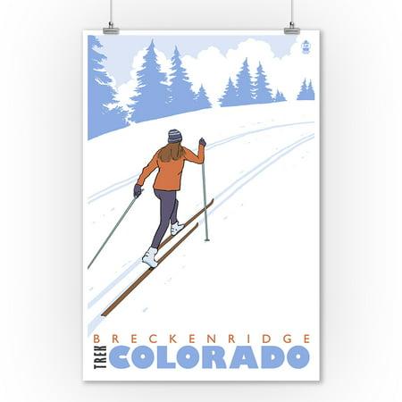 Breckenridge, Colorado - Cross Country Skier - Lantern Press Poster (9x12 Art Print, Wall Decor Travel