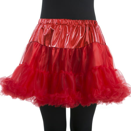 Woman Red Petticoat Large/Plus Halloween Dress Up / Costume Accessory (Bands To Dress Up As For Halloween)