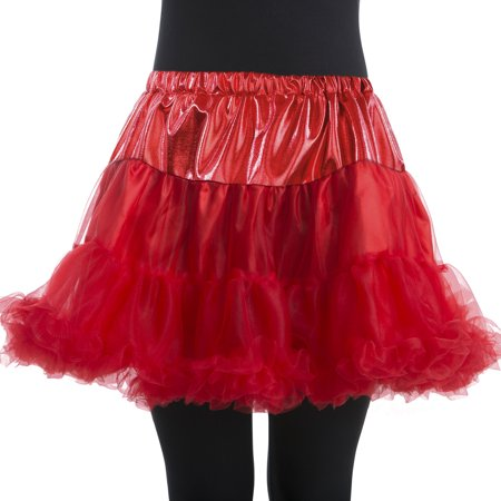 Woman Red Petticoat Large/Plus Halloween Dress Up / Costume Accessory (Dachshunds Dressed Up For Halloween)