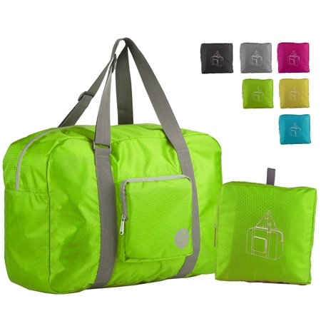 c9a243a2863 WANDF T302 Foldable Travel Duffel Bag for Luggage, Sports   Gym, Rip-stop  Water Resistant Nylon, Green - Walmart.com