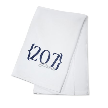 Bangor, Maine - 207 Area Code (Blue) - Lantern Press Artwork (100% Cotton Kitchen Towel)](Party City Bangor Maine)
