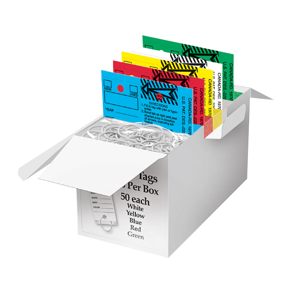 Laminated Key Tags Assortment Box of 250 by