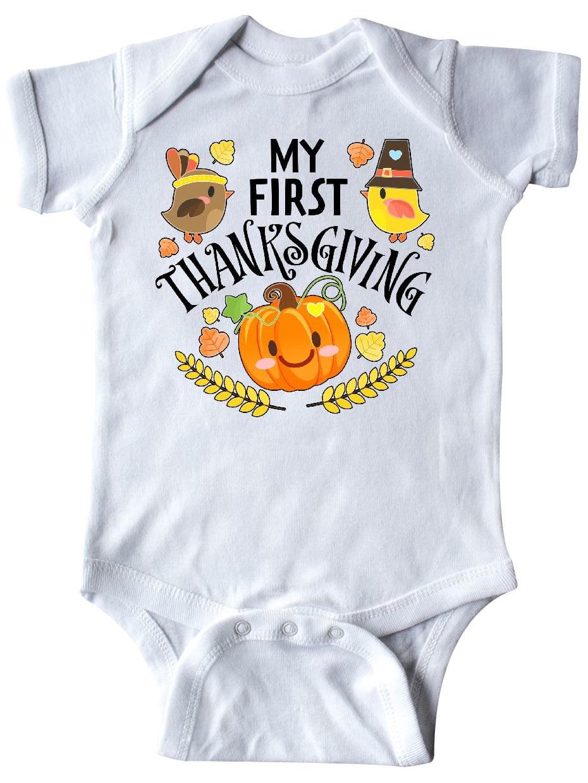 Autumn Birds Pumpkin Baby T-Shirt inktastic Happy Thanksgiving