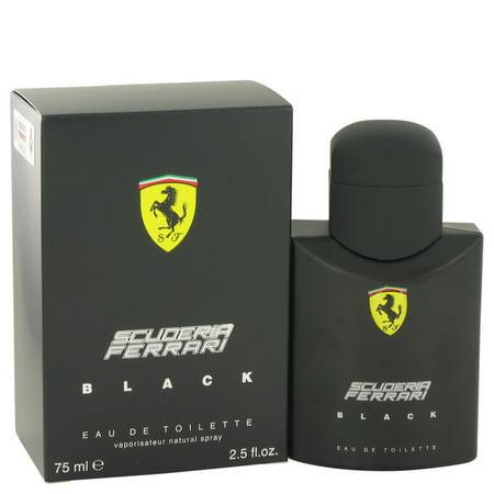 Ferrari Ferrari Scuderia Black Eau De Toilette Spray for Men 2.5 (Scuderia Ferrari Men)