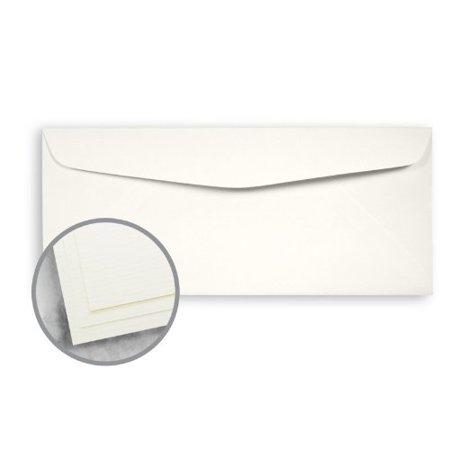 Strathmore Writing Soft White Envelopes - No. 10 Commercial (4 1/8 x 9 1/2) 24 lb Writing Laid 25% Cotton Watermarked 2500 per