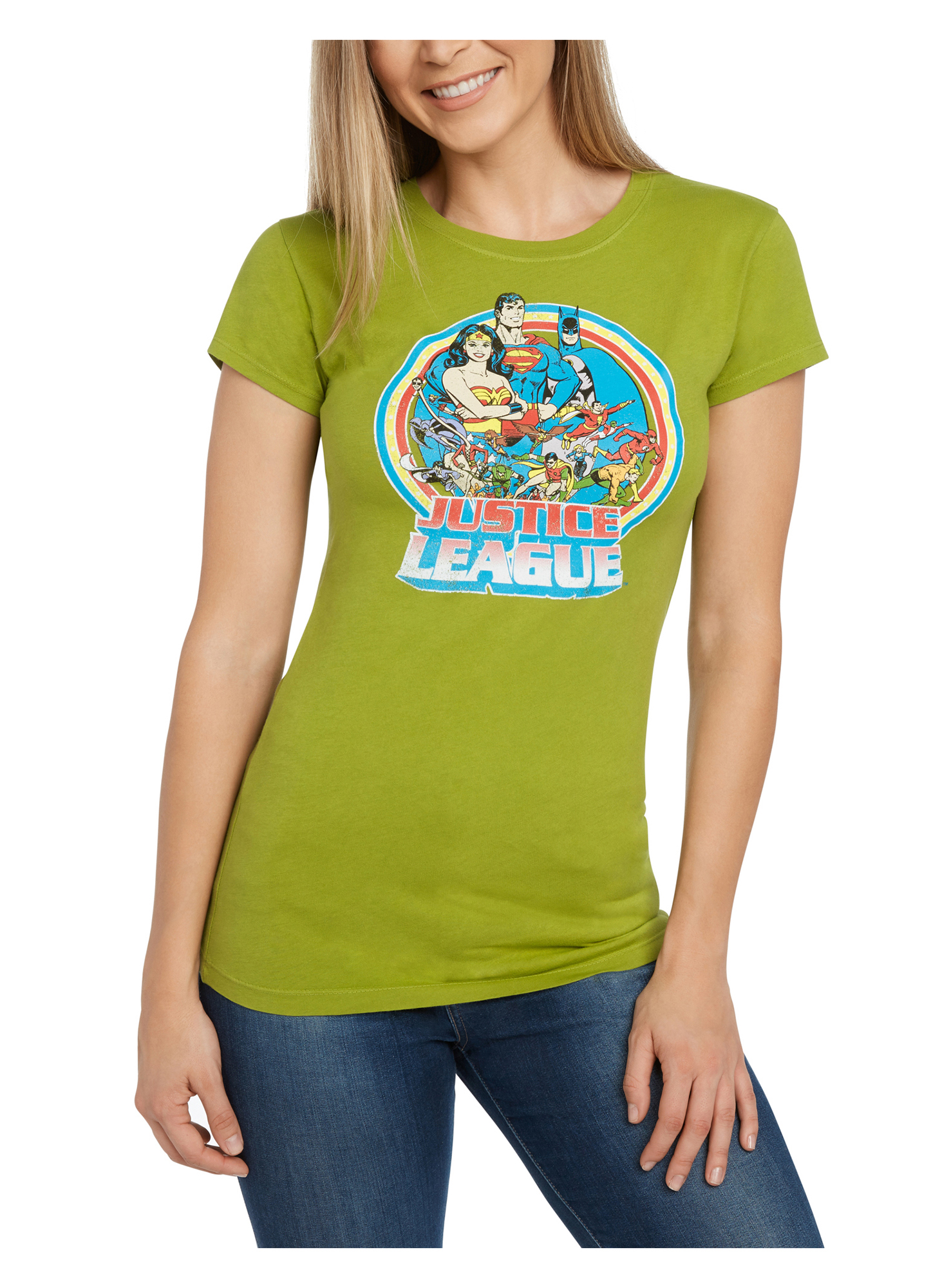 Juniors Justice League Graphic T-Shirt Green