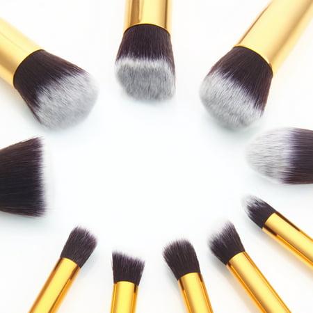 Zimtown 10Pc Makeup Brushes Tool Set Cosmetic Eyeshadow Face Powder Foundation Lip Brush - image 5 of 7