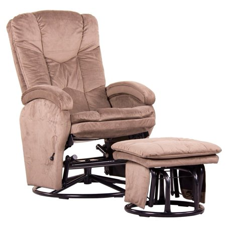 Push Back Recliner Glider Rocker With Swivel And Brake