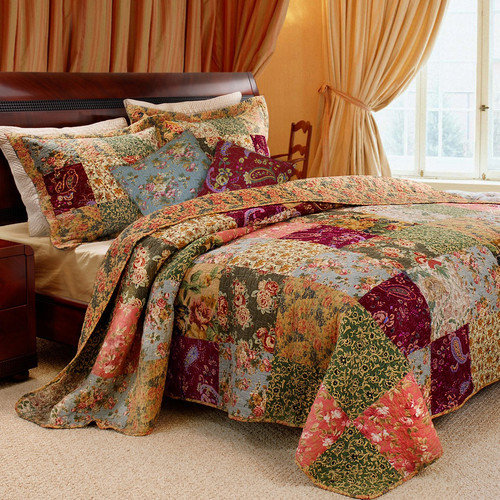 Greenland Home Fashions Antique Chic Bonus Coverlet Set
