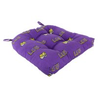 "College Covers LSU Tigers Indoor / Outdoor Seat Cushion Patio D Cushion 20"" x 20"", 2 Tie Backs"