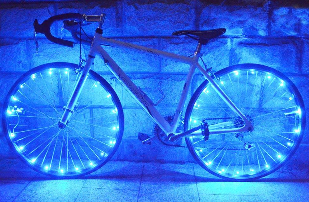 Bicycle 20 LED Bike Cycling Rim Lights LED Wheel Spoke Light String Strip Lamp