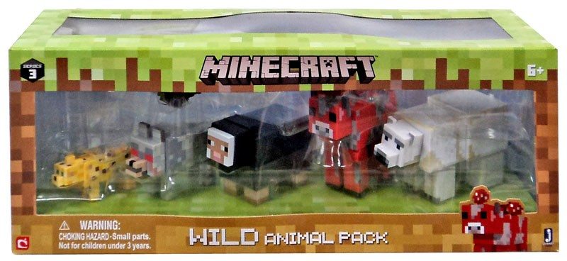 Minecraft 6 Figure Pack (Wild Animal Pack) by Jazwares