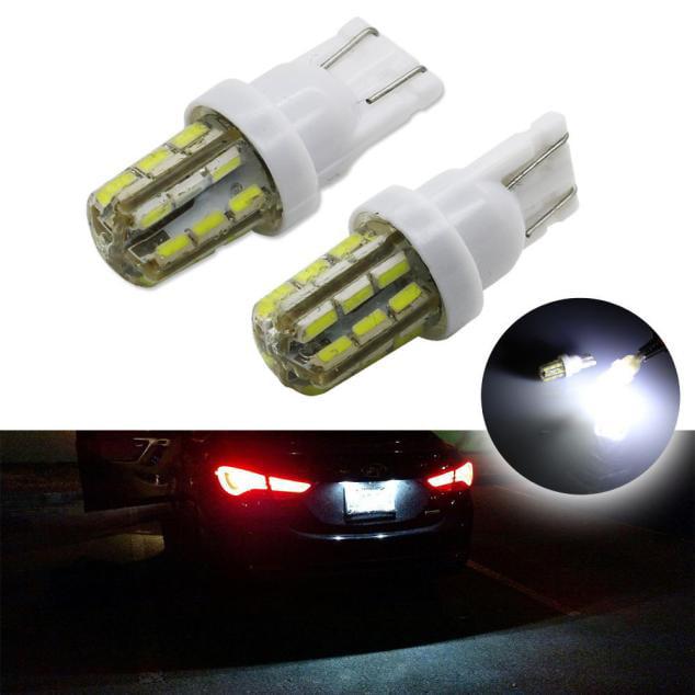 DZT1968 2x Xenon White 24-SMD T10 168 194 2825 LED Bulbs For Car License Plate Lights