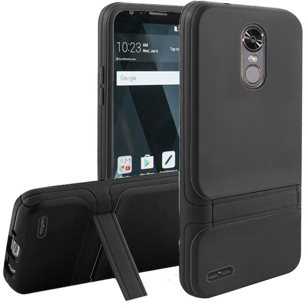 LG Stylo 3 phone case, LG Stylo 3 Plus Case, by Insten Dual Layer [Shock Absorbing] Hybrid Stand Hard Plastic/Soft TPU Rubber Case Cover For LG Stylo 3 LS777/K10 Pro/Stylus 3/Stylo 3 Plus, Black