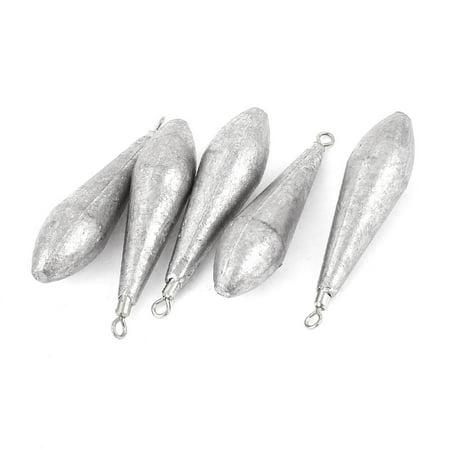 1 7 16 oz waterdrop shaped swivel fishing sinker lead for Fishing weights walmart