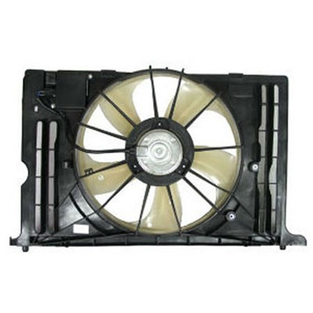 NEW RADIATOR FAN WITH CONTROL UNIT FITS 2009-2010 TOYOTA COROLLA 11761168 ()
