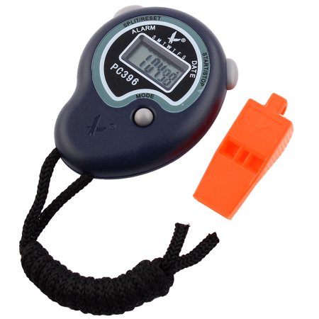 Unique Bargains LCD Display Chronograph Stopwatch w Orange (Large Lcd Digital Stopwatches)