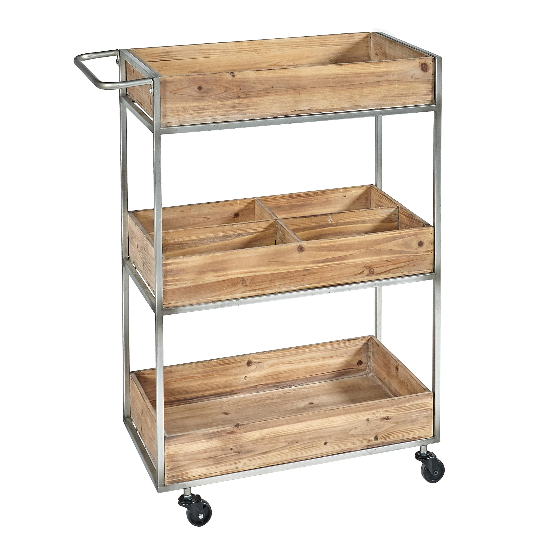 Linon Buford Metal and Wood Bar Cart
