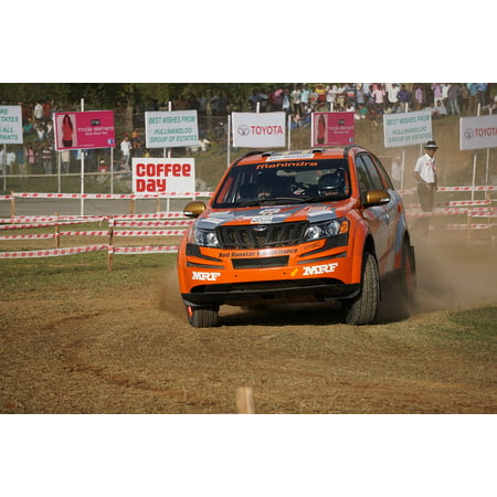 Canvas Print Car Chikmagalur Dirt Mahindra Rally Sports India Stretched Canvas 10 x