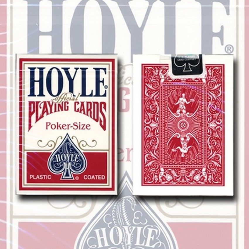1 Deck Hoyle Standard Poker Playing Cards Red Brand New Deck