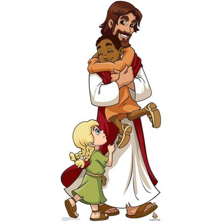 71 x 32 in. Jesus with Children - Creative for Kids Cardboard Standup](Cardboard For Sale)