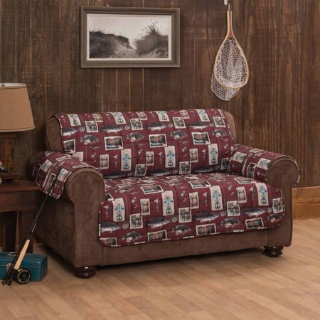Innovative Textile Solutions Gone Fishing Sofa Protector, Multi-Color