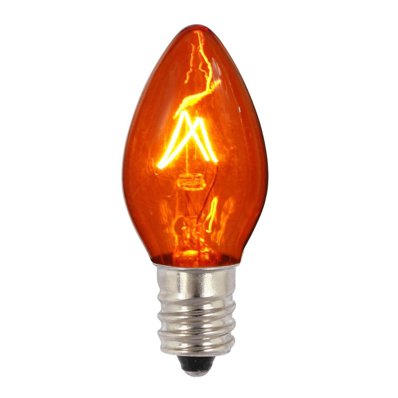 Vickerman C7 Transparent Amber 130V 5W Bulb