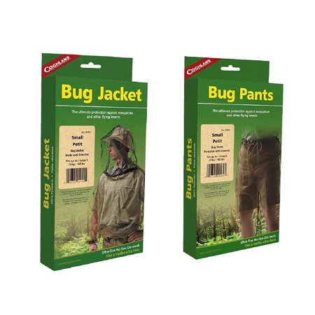 Coghlan's Bug Suit Pants & Jacket Small Black Unisex Lightweight Mosquito Net, Fits up to 160 lbs (73 kg), By (Mosquito Jacket)
