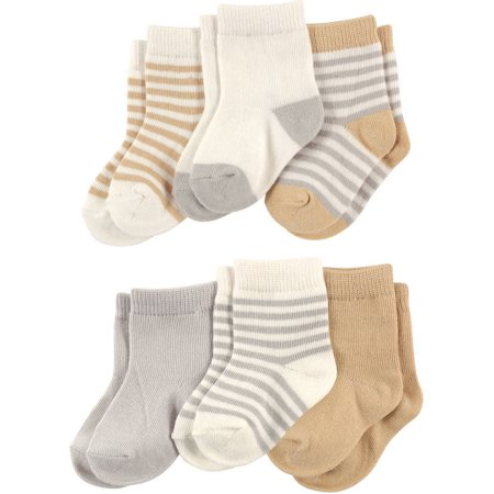 Baby Unisex Socks, 6-Pack (Baby Layette Socks)