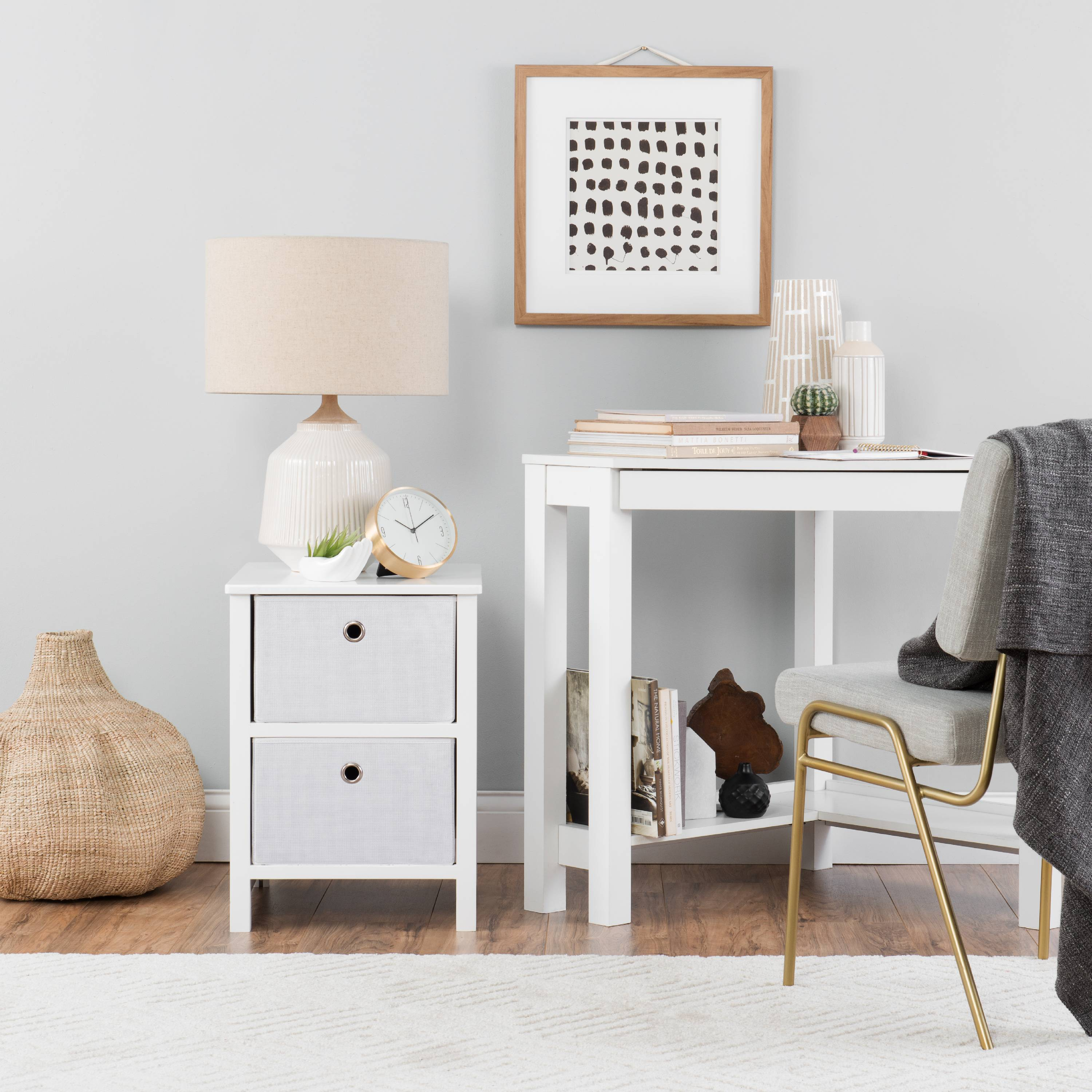 Foldable Furniture 2 Drawer Nightstand - Achim EZ Home Solutions