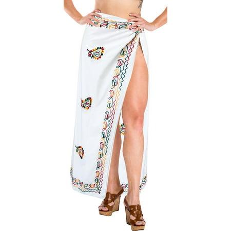 09d59e7e53 LA LEELA - Sarong Wrap Beachwear Bathing Suit Swimwear Swimsuit Cover ups  Pareo Skirt Women - Walmart.com