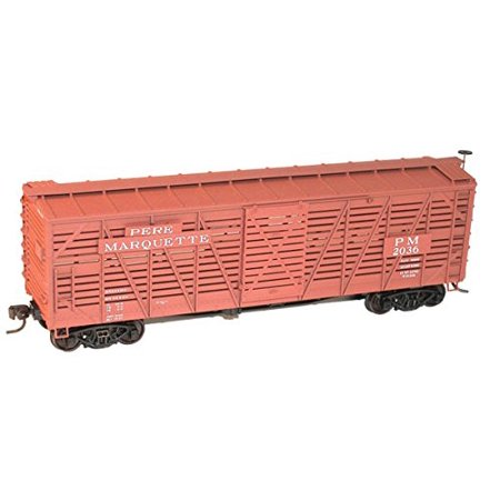 Accurail 4738 HO Scale KIT 40 FT Wood Stock Car - Pere Marquette ()