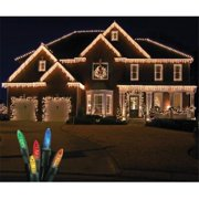 Winterland S-ICM55M-IG Standard Icicle M5 Multi Colored LED Light Set On White Wire