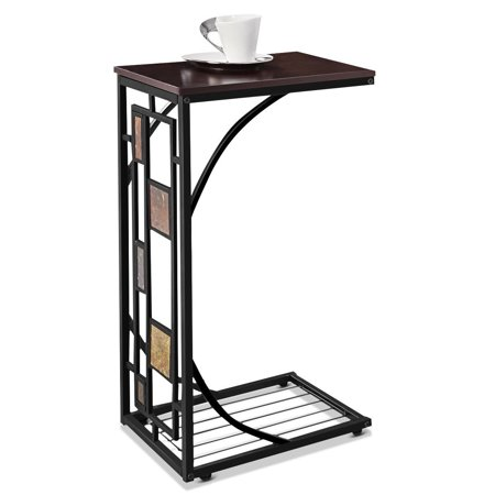 Costway Coffee Tray Side Sofa Table Ottoman Couch Room Console Stand End TV Lap Snack ()