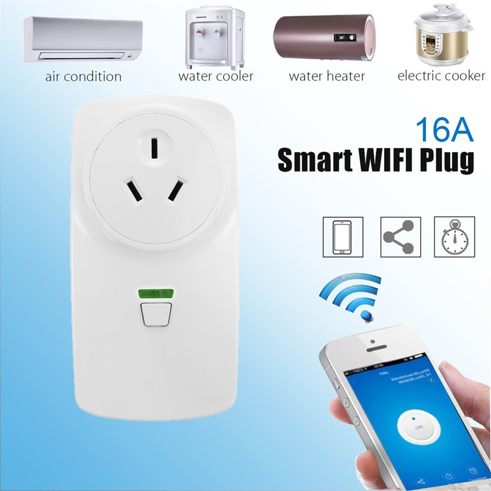 16A Wifi Smart AU Plug Power Socket Wireless Remote Control Smart Socket